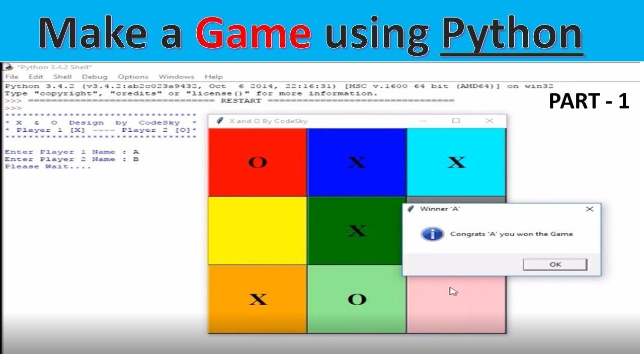 Tic Tac Toe Game - Part 1 | Python Tutorial | Python Game X and 0 | CodeSky