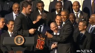 Obama Honors Cleveland Cavaliers at White House