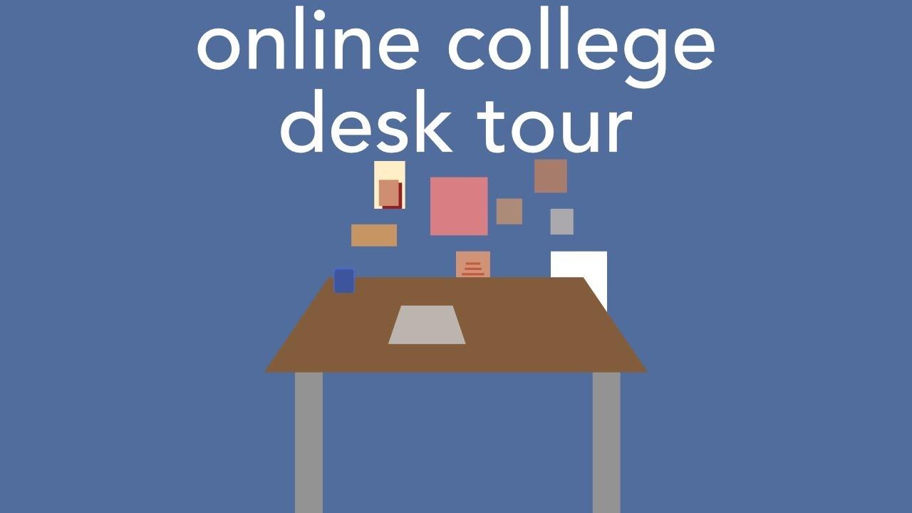 desk tour ~online college senior edition~