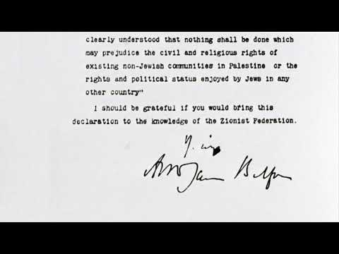 100 years of the Balfour Declaration
