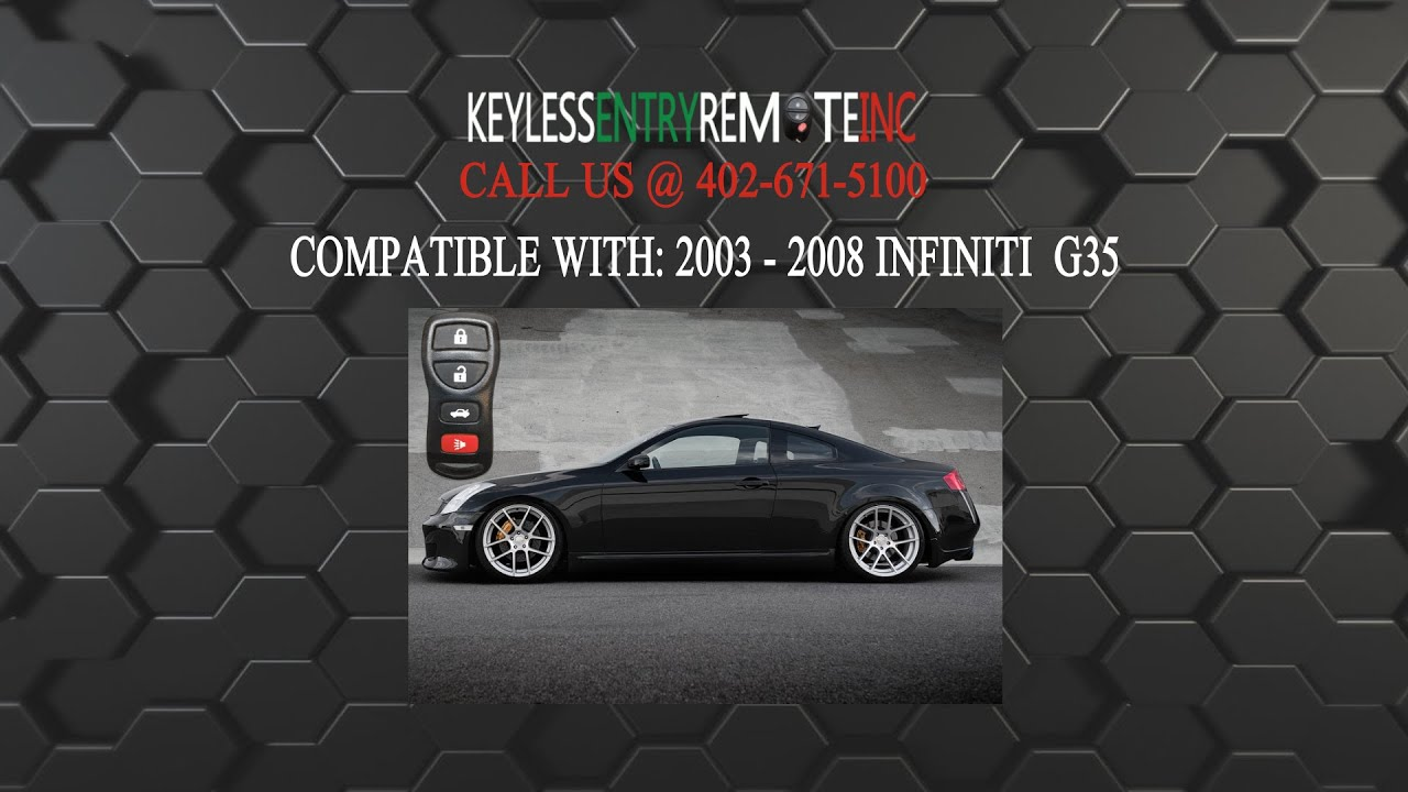 How To Replace Infiniti G35 Key Fob Battery 2003 2008