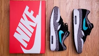 Nike 2017 Air Max 1 Elephant Premium Retro by Atmos Review and On Feet