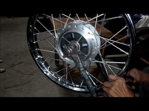 Wheel Alignment of a Motorcycle Wheel