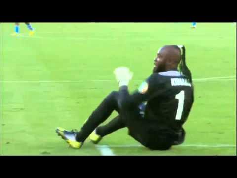 Goalkeeper DR Congo national team dance On Ass