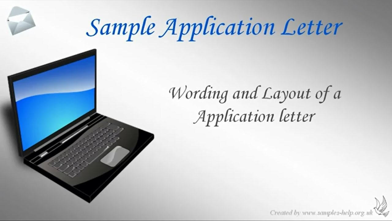 How to write an application letter youtube altavistaventures Choice Image