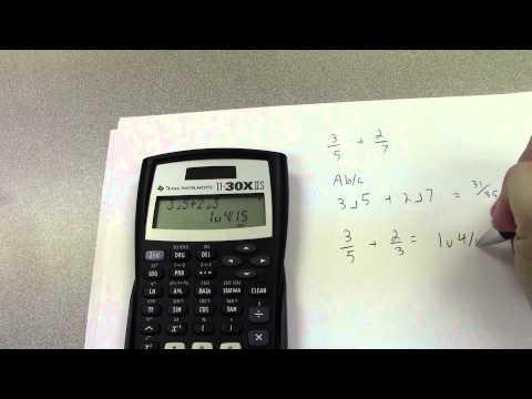How To Use A TI 30X IIS Calculator