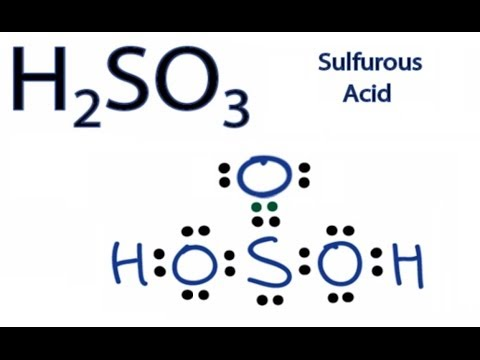 H2SO3 Lewis Structure: How to Draw the Lewis Structure for Sulfurous Acid
