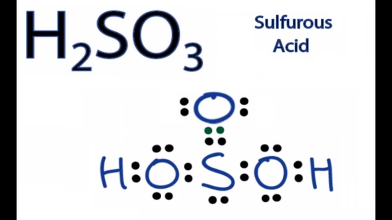 H2so3 lewis structure how to draw the lewis structure for sulfurous h2so3 lewis structure how to draw the lewis structure for sulfurous acid youtube ccuart Choice Image