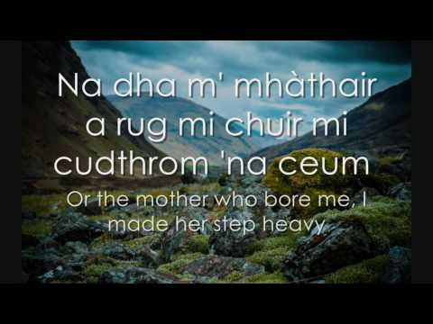 Mairead Nan Cuiread - Scottish Gaelic LYRICS + Translation