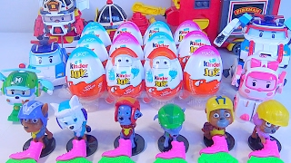 Kinder Joy Surprise Eggs Paw Patrol Robocar Poli - Kids' Toys