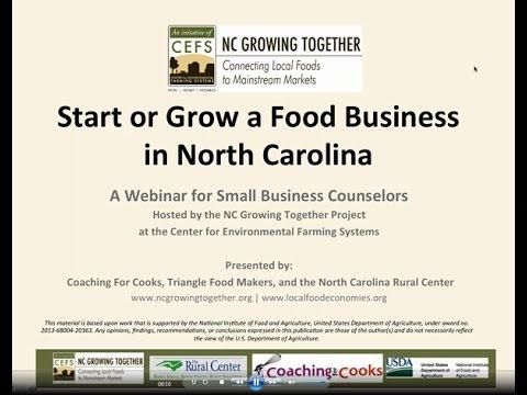 Start or Grow A Food Business in North Carolina Webinar