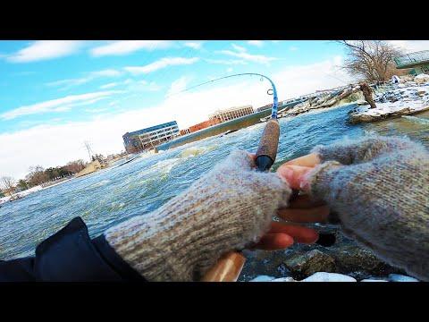 Urban Shore Fishing For Lake Michigan Steelhead