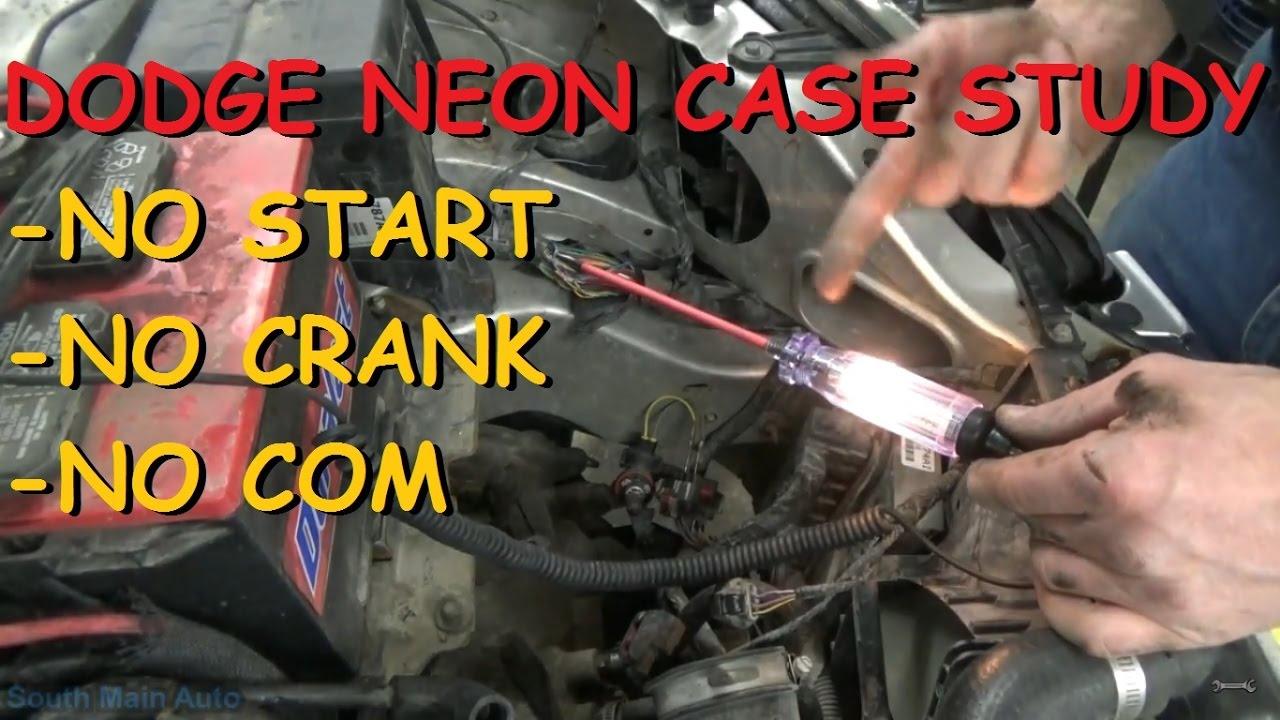 Dodge Neon Case Study - No Start, No Crank, No Com