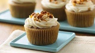 Deliciosos Cupcakes de nuez y canela con betún de maple / Cupcakes de nuez