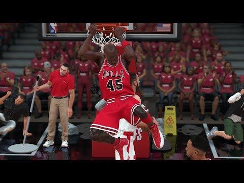 NBA 2K18 Bulls Michael Jordan My Career (MJ Drops 50 Take Flight) PLAYOFFS ROUND 3 GAME 4 Xbox One X