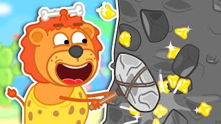 Lion Family Official Channel 👛 Jurassik World: Money Rock | Cartoon for Kids