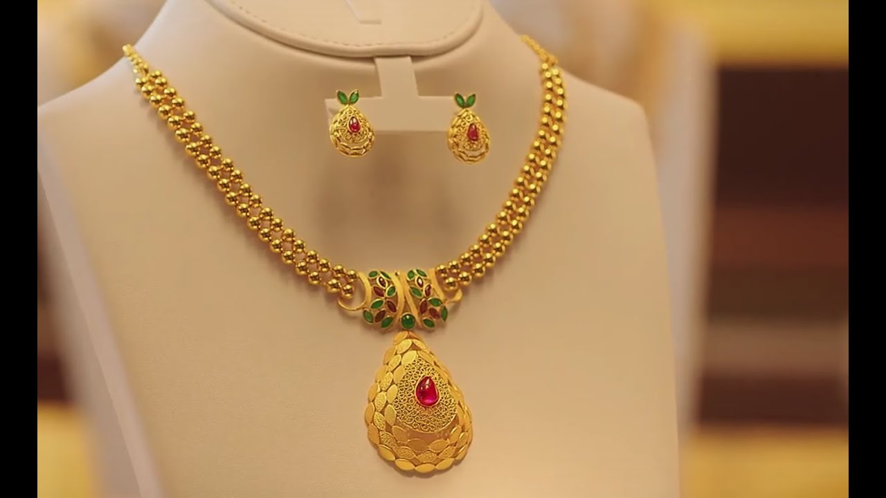 Latest Simple Light Weight Designer Gold Necklace Designs With ...