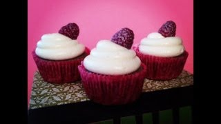 How To Make Raspberry Champagne Cupcakes With Gold Dusted Raspberries
