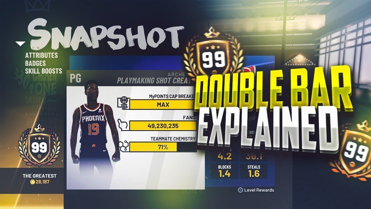 99 OVERALL EXPLAINS HIS DOUBLE BARS ON A PLAYMAKING SHOT CREATOR! NBA 2K19  CAP BREAKER INFORMATION!