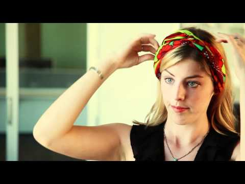 How To Tie Boho Head Scarf Tutorial Boho Head Scarf Tutorial