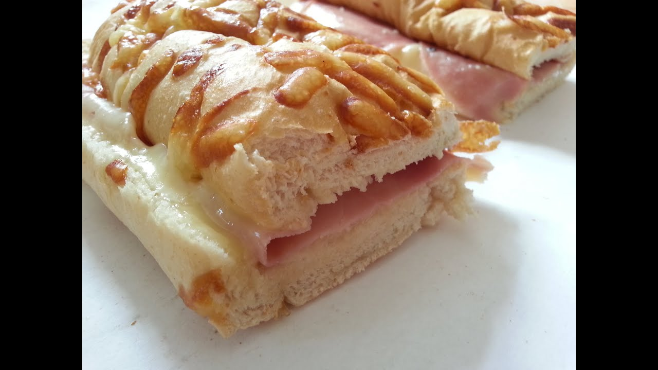 Mesterbakeren Ham And Cheese White Bread Baguette With Cheese Decoration