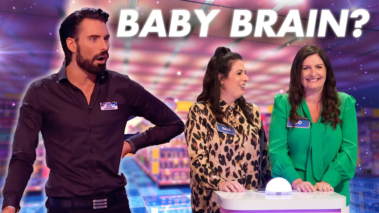 BABY BRAIN! How could you forget the inflatable? | Supermarket Sweep 2020