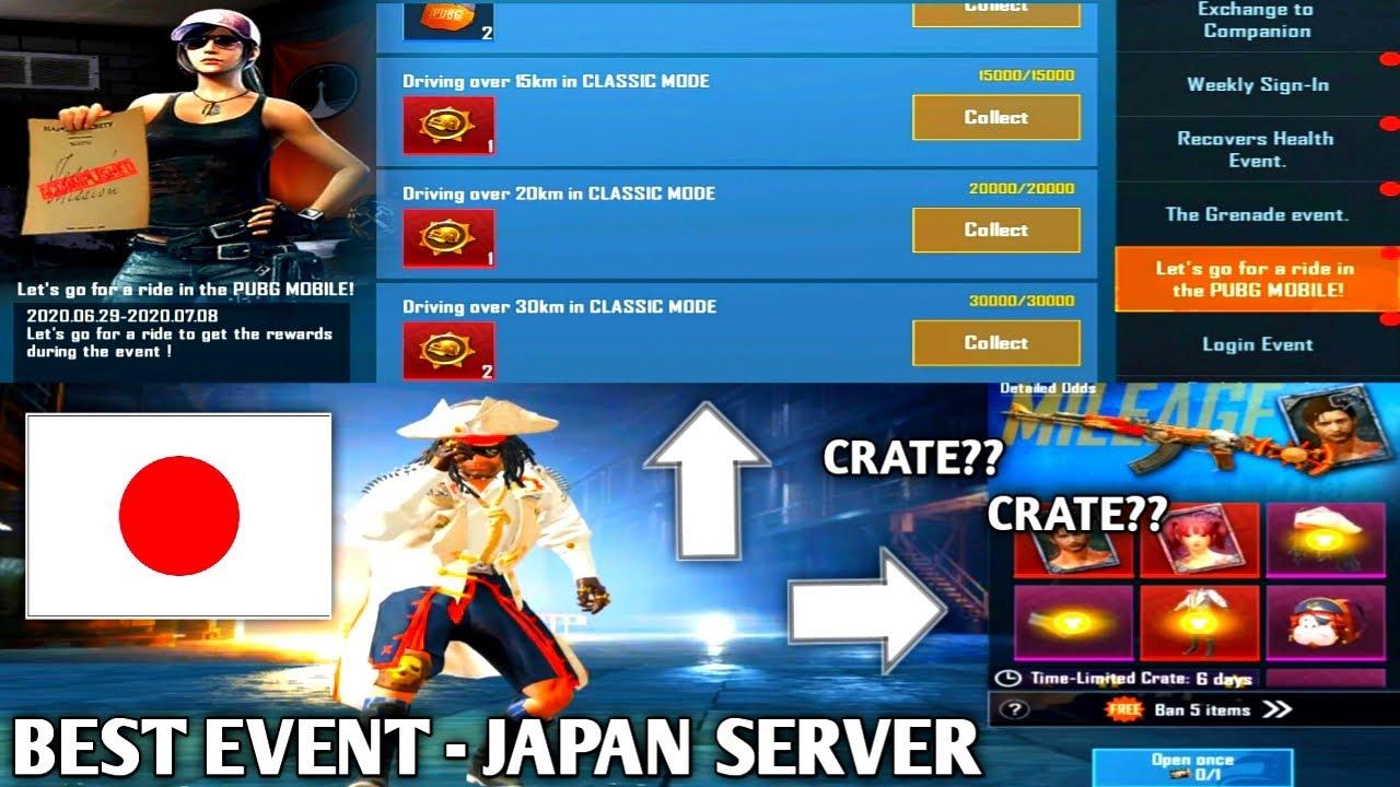NEW BEST EVENT!!! JAPAN SERVER & SPENDING CRATE WITH (JAPAN SERVER) | PUBG MOBILE KOREA