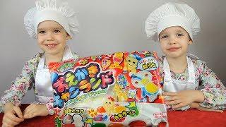 ЯПОНСКИЕ СЛАДОСТИ из порошка Попин Кукин на русском делаем КОНФЕТЫ своими руками Popin Cookin DIY