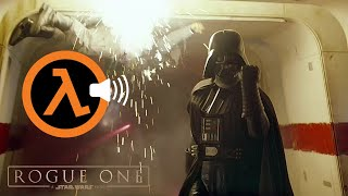 Cover images Star Wars Rogue One Darth Vader Scene dubbed with Half Life SFX