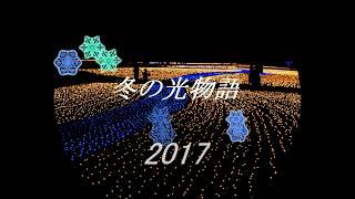 国営木曽三川公園イルミネーションイベント「冬の光物語2017」 part1~オーロラ