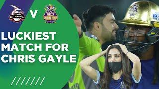 PSL2021 Luckiest Match For Chris Gayle Lahore Qalandars Vs Quetta Gladiators Match 4 MG2T