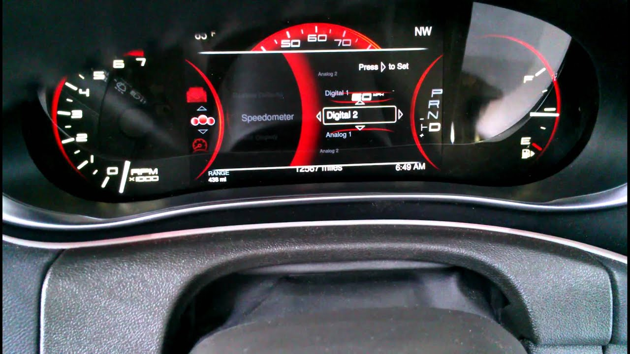 2013 Dodge Dart customizable dash cluster NAIAS