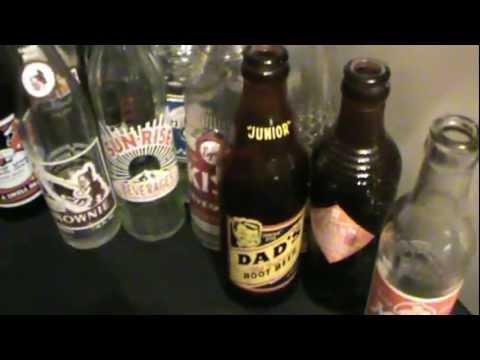 Vintage Painted Label Soda Bottles Auction Finds & Ebay Sales