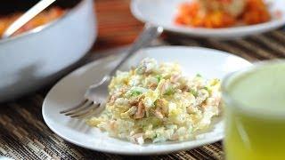 Atún con huevo - Recetas de desayunos - Scrambled eggs with tuna