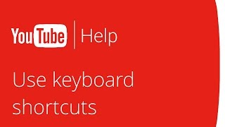 Use keyboard shortcuts while watching a video