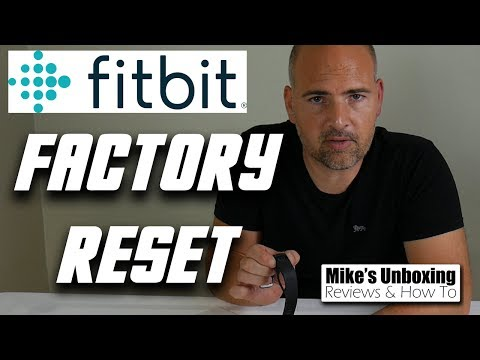 Fitbit Charge HR & Charge 2 Factory Reset Delete & Erase Data Instructions & Guide New Version