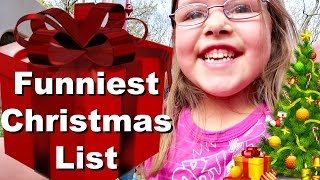😂Funniest CHRISTMAS LIST🎄🎁