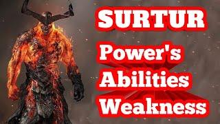 Surtur Origin Powers Abilities and Weakness