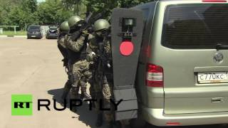 Terror Combat Drills: Russian Special Forces show off skills