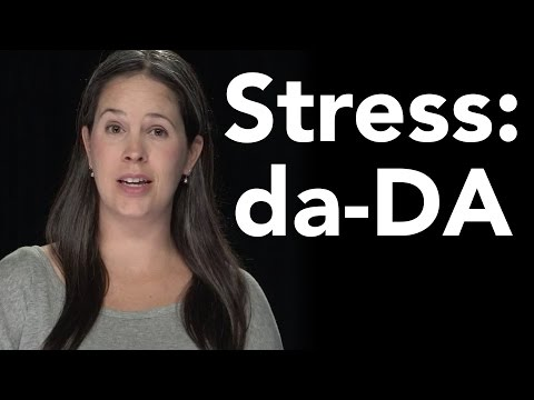 Syllable Stress Study:  2-Syllable Words da-DA - American English