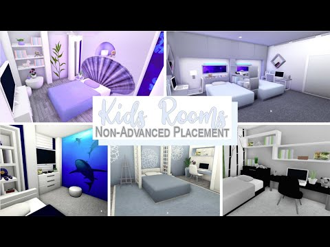 Bloxburg | Kids & Teen Rooms || No Advanced Placement