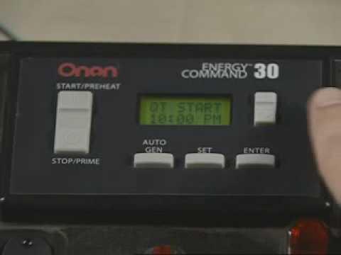 cummins onan rv products how to ec30 control youtube