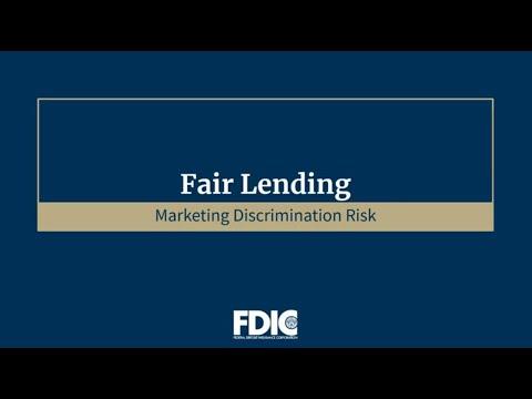Understanding Fair Lending Risk in the Credit Process:  Marketing