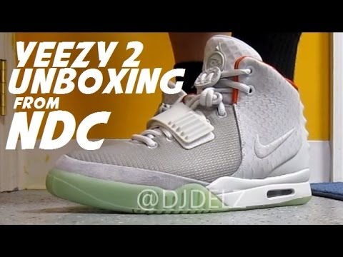 f35209945 Nike Air Yeezy 2 Pure Platinum Sneaker Unboxing Review + On Foot W   DjDelz  - YouTube