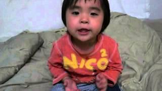 2歳 どんぐりころころ 歌えました。