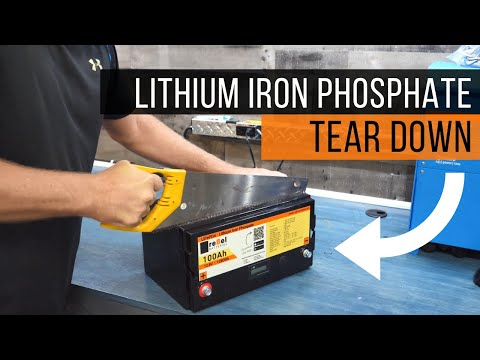 reBel Batteries - 12V 100A LiFePO4 Tear Down - Inside a Lithium Iron Phosphate Battery