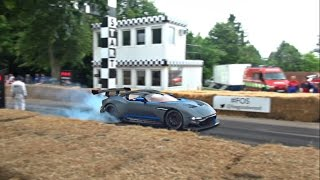 $2.3m Aston Martin Vulcan INSANE burnouts and V12 SOUND!!