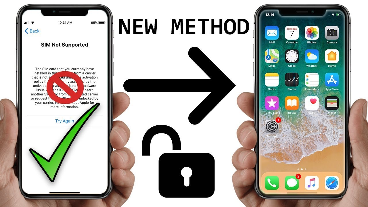 How to Fix Sim Not Supported iPhone X,8,7,6,5,4 - iPhone Network Unlock