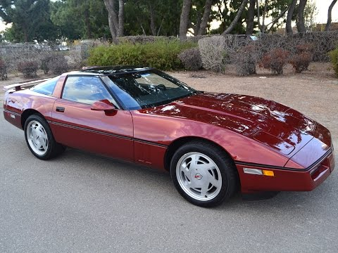 SOLD 1988 Chevrolet Corvette Coupe Dk. Red Metallic for sale by Corvette Mike