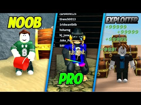 Noob vs Hacker vs Pro [ Treasure Hunt Simulator Edition]